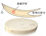 印鑑の材質:象牙(高級)について