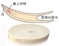 印鑑の材質:象牙(超極上)について
